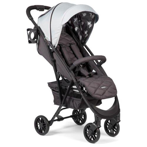 Прогулочная коляска Happy Baby Eleganza V2 light grey, цвет шасси: черный
