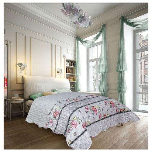 Покрывало Amore Mio Style 2 85833 220 х 240 см серый/розовый
