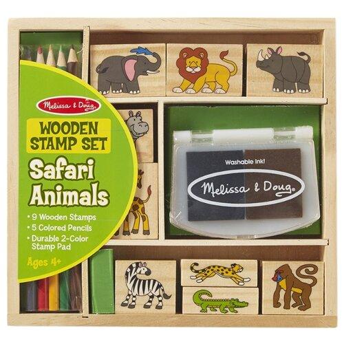 Купить Набор штампов Melissa & Doug Животные Африки (8786), Штампы, трафареты
