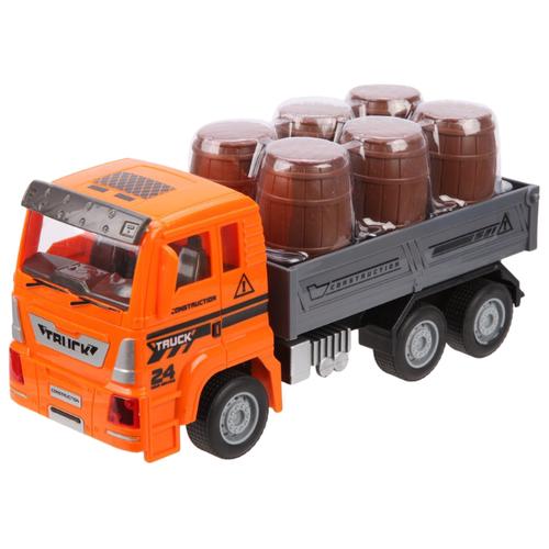 Купить Грузовик Senyue Toys 89002B-19 1:18 23 см серый/оранжевый/коричневый, Машинки и техника