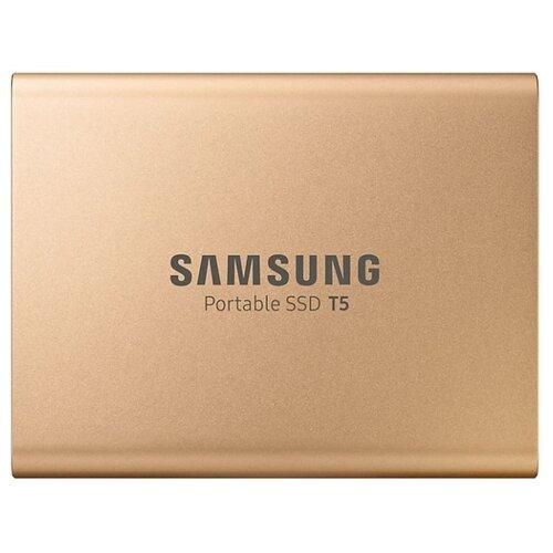 Фото - Внешний SSD Samsung Portable SSD T5 500 ГБ золотистый часы samsung galaxy watch active sm r 500 n зелёный