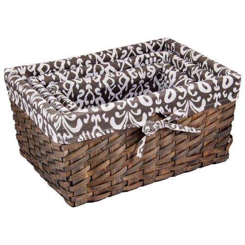 Русские подарки Набор плетеных корзинок 80351 коричневый