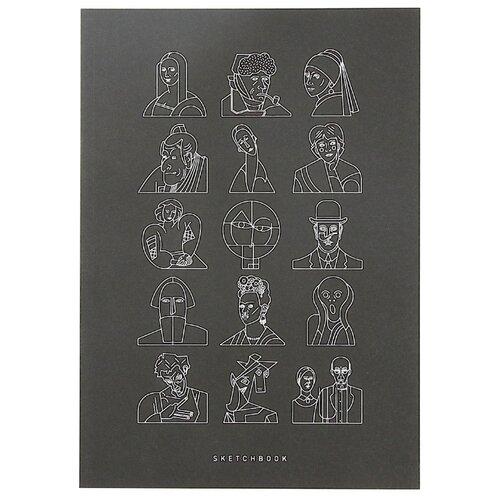 Скетчбук для зарисовок Подписные издания Портреты 29.7 х 21 см (A4), 100 г/м², 44 л. открытка подписные издания дом мельникова 10 х 15 см