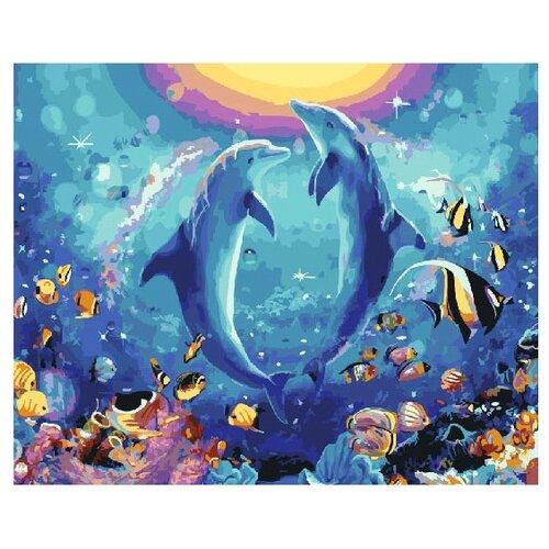 Фото - ВанГогВоМне Картина по номерам Дельфиньи игры, 40х50 см (ZX 22050) картина по номерам 30 x 40 см krym fn11