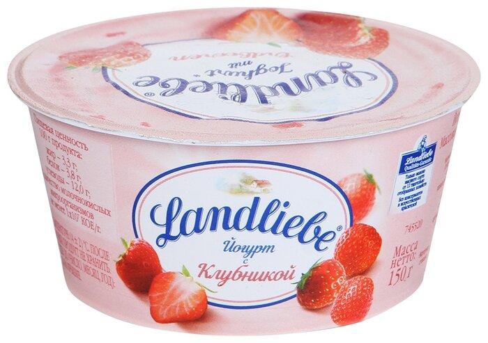 Йогурт Landliebe с клубникой 3.3%, 150 г