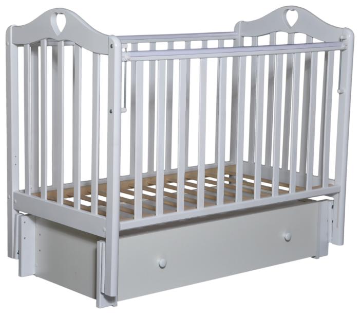 Кроватка Кедр Каролина-6 (продольный маятник   ящик)