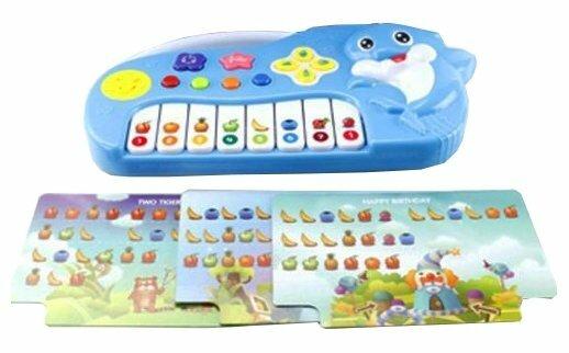 Shantou Gepai пианино Дельфин с нотными карточками ZZ1401B
