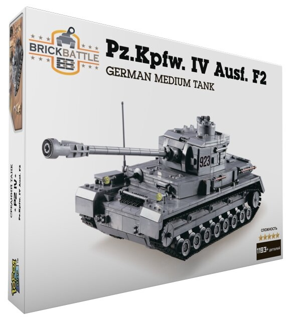 Купить Конструктор Город Игр BrickBattle GI-6744 Танк Pz IV по низкой цене с доставкой из Яндекс.Маркета