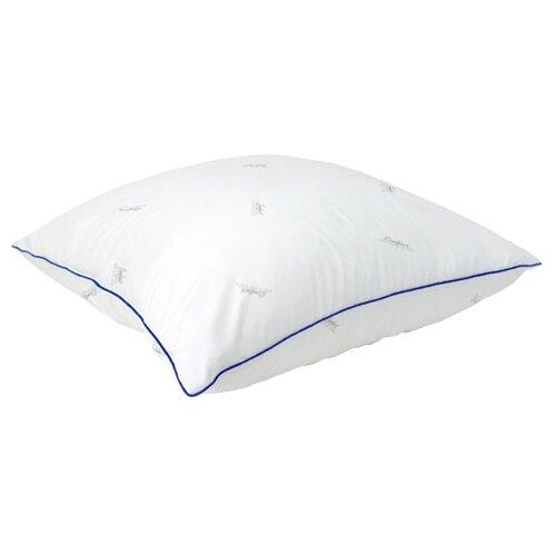 Подушка Мягкий сон Comfort Лебяжий пух 70 х 70 см белый подушка для кормящих smart textile мамина радость с наволочкой наполнитель искуственный лебяжий пух 66 х 34 х 36 см