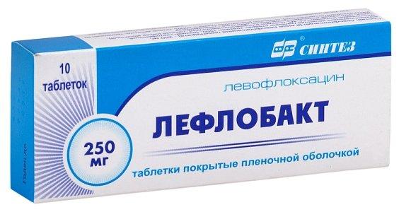 Лефлобакт таб. п/о плен. 250мг №10