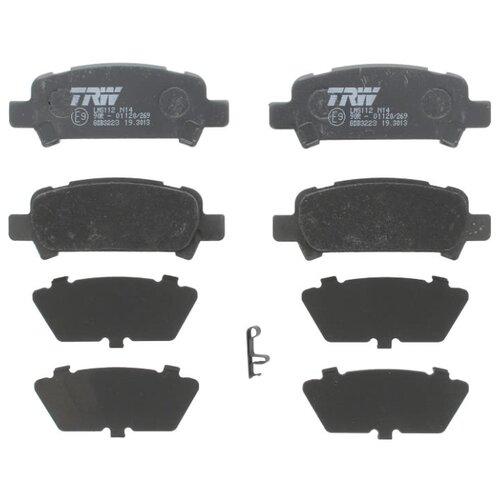 Дисковые тормозные колодки задние TRW GDB3223 для Subaru Forester, Subaru Impreza, Subaru Legacy, Subaru Outback (4 шт.) фото