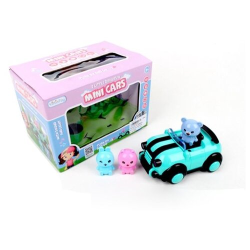 Купить Развивающая игрушка Наша Игрушка Веселая компания, машинка, 3 фигурки, свет, звук (8022E), Наша игрушка, Развивающие игрушки