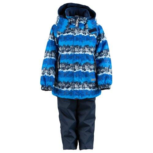 Комплект с полукомбинезоном KERRY August K19030 размер 110, 2290 голубой/ синий/ белыйКомплекты верхней одежды<br>