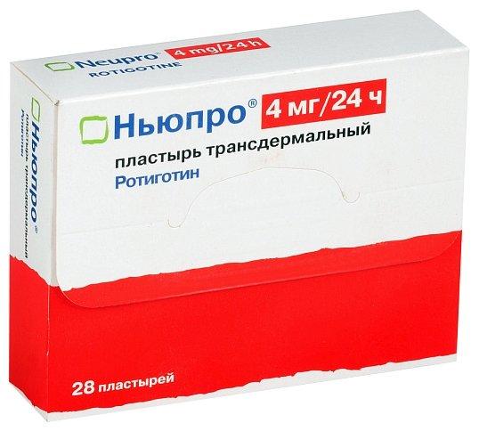 Ньюпро пластырь трансдерм. 4 мг/24 ч №28