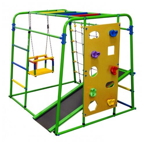 Купить Спортивно-игровой комплекс Формула здоровья Start baby 2 Плюс зеленый/радуга, Игровые и спортивные комплексы и горки