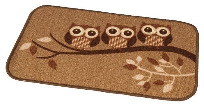 Придверный коврик RemiLing Совы 1, размер: 0.57х0.4 м, коричневый