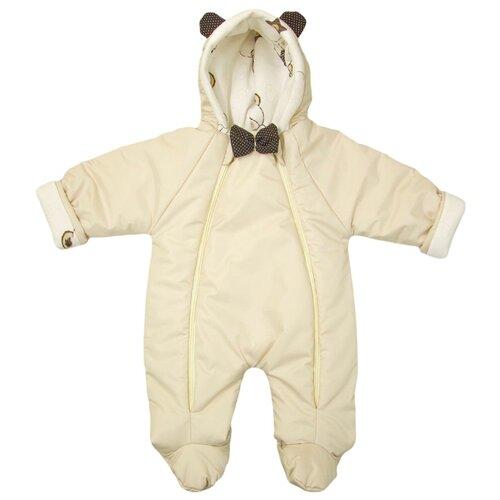 Купить Комбинезон Глория Смэл Мишка размер 62, бежевый для мальчика, Теплые комбинезоны