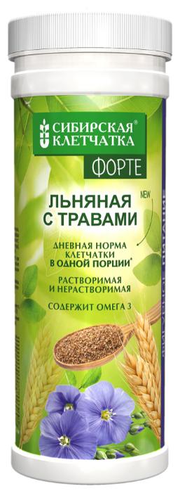 Клетчатка СИБИРСКАЯ КЛЕТЧАТКА Льняная с травами Форте, 200 г
