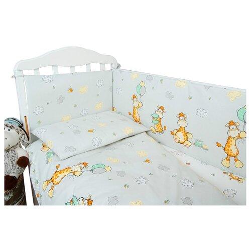 Сонный Гномик комплект Жирафик (6 предметов) серыйПостельное белье и комплекты<br>
