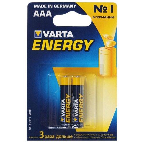 Фото - Батарейка VARTA ENERGY AAA 2 шт блистер батарейка varta energy aa блистер 2шт