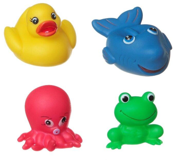 Набор для ванной BONDIBON Акула, лягушка, утка, осьминог (ВВ1399)