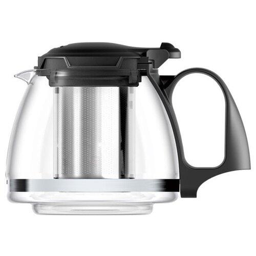 Veitron Чайник заварочный стеклянный SY-1201 1.2 л прозрачный/черный мфк заварочный чайник стеклянный 1 8 л прованс violet
