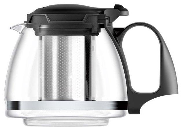 Купить Veitron Чайник заварочный стеклянный SY-1201 1.2 л, прозрачный/черный по низкой цене с доставкой из Яндекс.Маркета (бывший Беру)