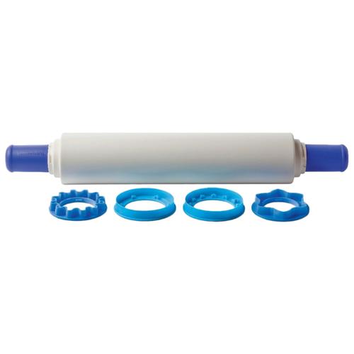 Скалка Tupperware с кольцами-насадками 50 см белый/синий molly 10 цветов 720 гр пресс с насадками 6 формочек скалка 2 ножа