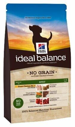 Корм для собак Hill's Ideal Balance для здоровья кожи и шерсти, курица с картофелем 12 кг