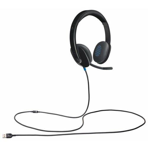 цена на Компьютерная гарнитура Logitech USB Headset H540 черный