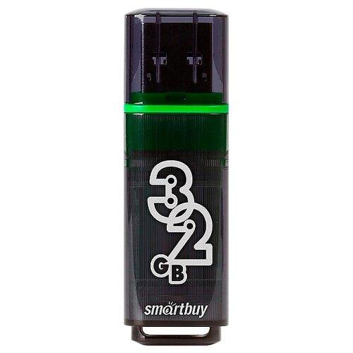 Фото - Флешка SmartBuy Glossy USB 3.0 32 GB, темно-серый флешка smartbuy glossy usb 2 0 32 gb изумрудный