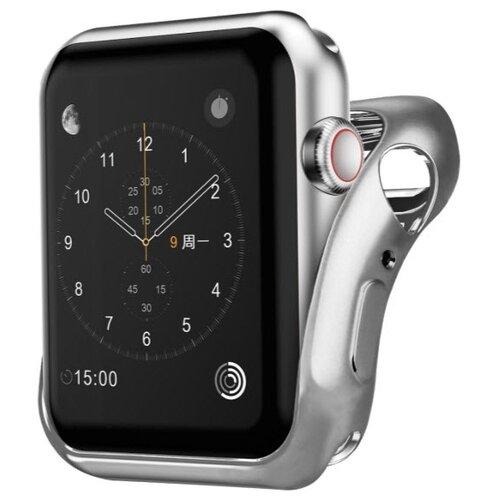Чехол INTERSTEP Спортивный, силикон для Apple Watch 38mm серебро
