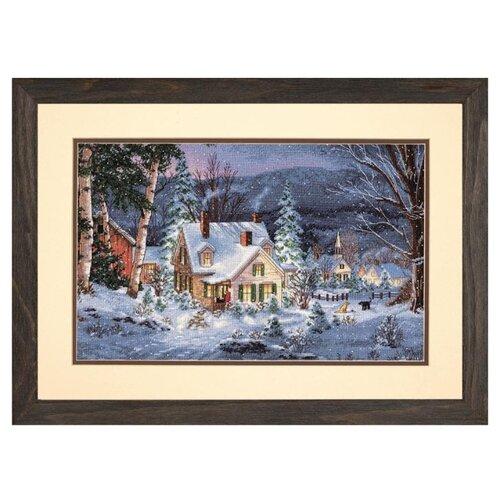 Купить Dimensions Набор для вышивания крестиком Зимняя тишина 40 x 25 см (70-08862), Наборы для вышивания