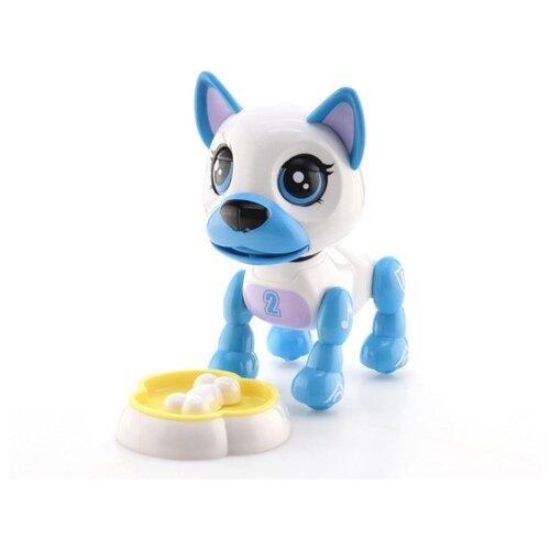 Интерактивная игрушка робот S+S Toys Пёс 200289718 белый/голубой игрушка s s toys bambini музыкальное пианино котик сс76753