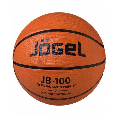 Баскетбольный мяч Jogel JB-100 №7, р. 7 коричневый мяч jogel jb 700 7 ут 00009331