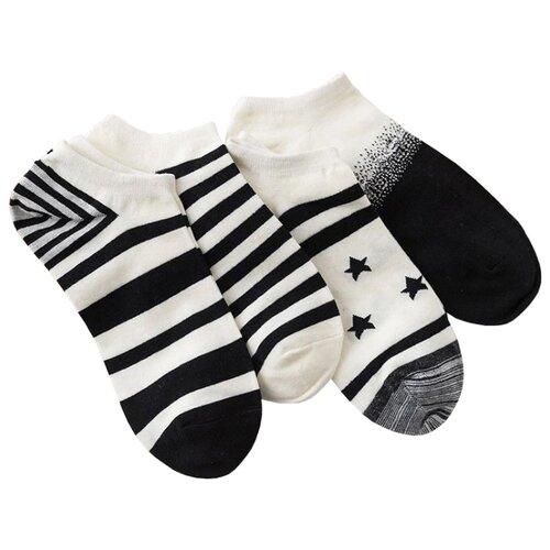 Носки Бело-черные, набор из 4 пар Caramella белый/черныйНоски<br>