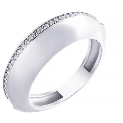 JV Кольцо из белого золота 585 пробы с бриллиантами 4963-WGDW-KO-WG, размер 18
