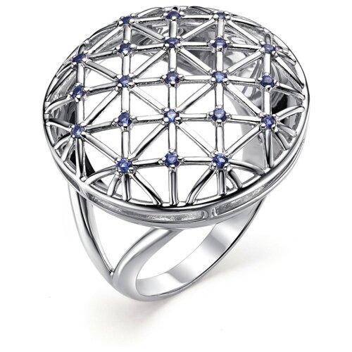 АЛЬКОР Кольцо с 18 фианитами из серебра 01-0644-0КЦ3-00, размер 17.5 фото