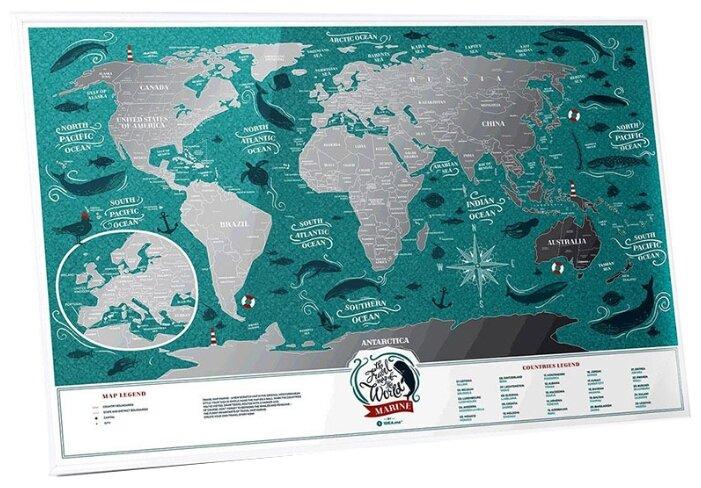 """Скретч-карта Travel Map """"Weekend World"""", 40 х 60 см"""