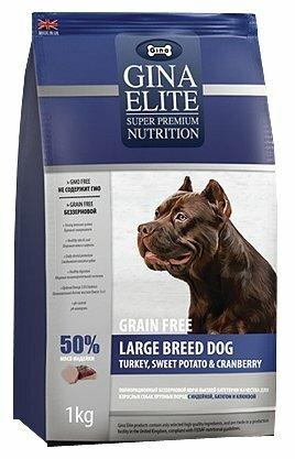 Корм для собак Gina Elite Grain Free Large Breed Dog Turkey, Sweet Potato & Cranberry