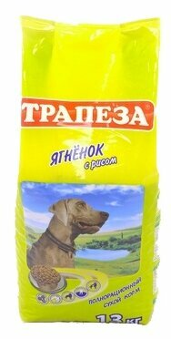 Корм для собак Трапеза Для взрослых собак Ягненок с рисом (13.0 кг)