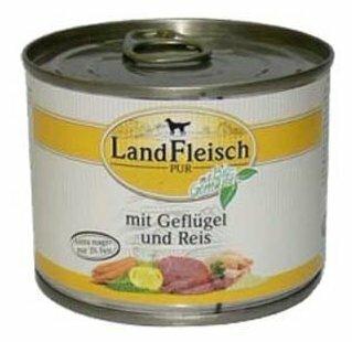 Корм для собак Dr. Alder`s ЛАНДФЛЯЙШ Деревенское мясо птица + рис + овощи рубленое мясо Для взрослых собак (0.195 кг) 1 шт.