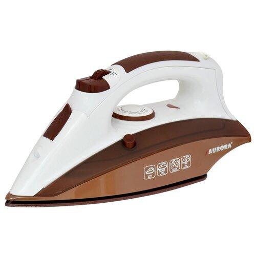 Утюг AURORA AU 3432 коричневый/белый
