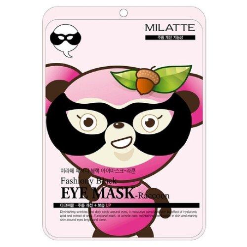 Milatte Маска от морщин вокруг глаз Fashiony Black Eye Mask Racoon 10 г маска из облепихи от морщин