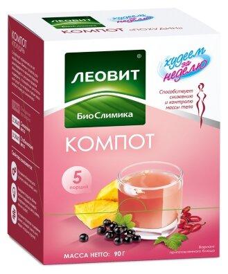 Компот Леовит - биослимика Биослимика Похудин 5 пакетов по 18 г. Упаковка 90 г