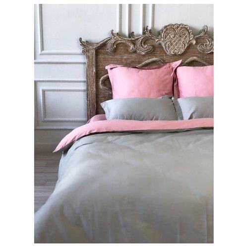 Постельное белье 1.5-спальное Bohemique studio Эвия сатин розовыйКомплекты<br>