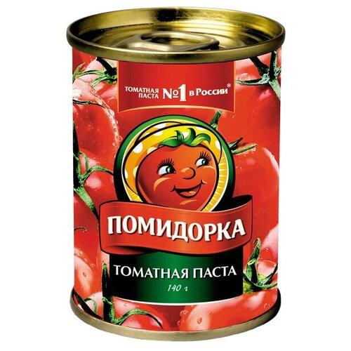Помидорка Томатная паста, жестяная банка 140 гТоматная паста<br>