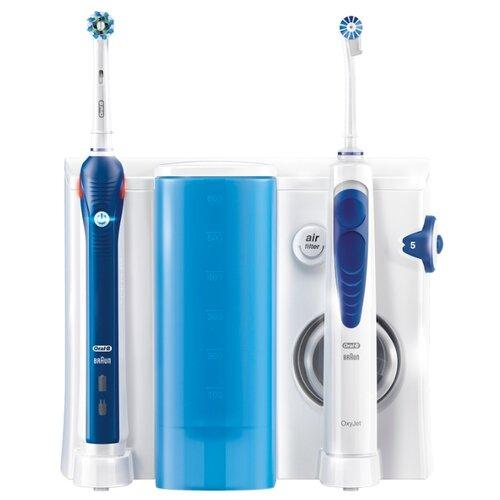 Зубной центр Oral-B OxyJet + Pro 3000, белый/синий цена 2017