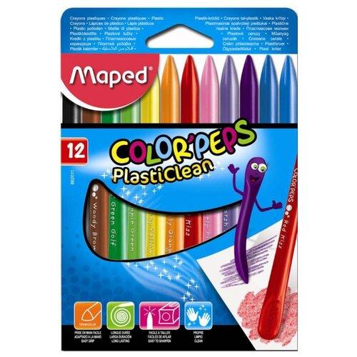 Купить Maped Мелки пластиковые Color'Peps 12 шт, Пастель и мелки
