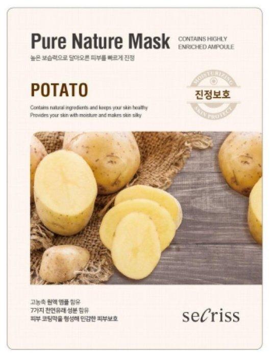 Secriss маска тканевая Secriss Pure Nature Mask Pack Potato с экстрактом картофеля
